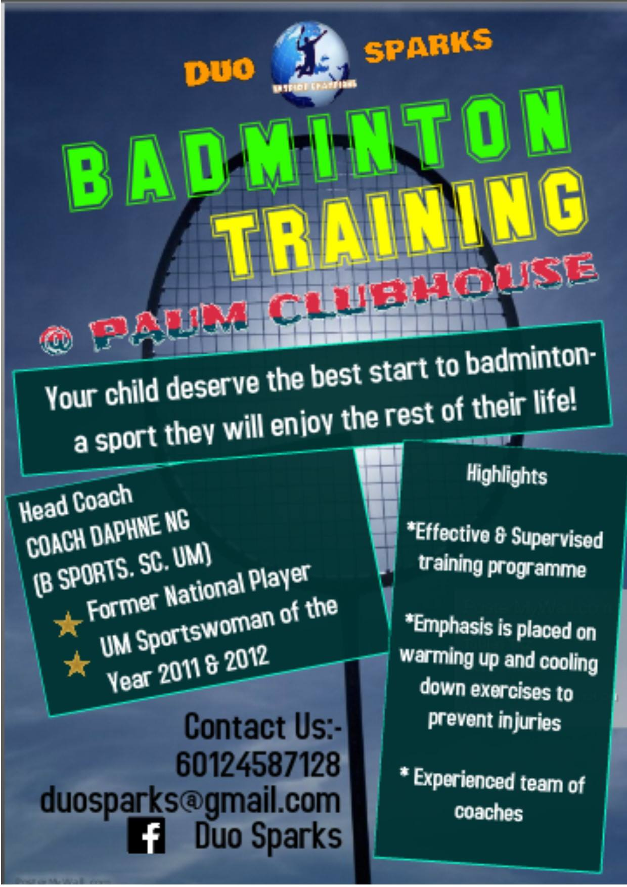 Badminton Training by Duo Sparks